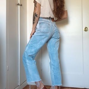 Vintage Levi's high-rise cropped jeans